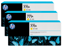 HP 771 3-pack 775-ml Ink Cartridge - Yellow