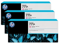 HP 771 3-pack 775-ml Ink Cartridge - Lt Magenta