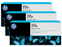 HP 771 3-pack 775-ml Ink Cartridge - Lt Cyan
