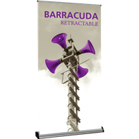 "Orbus Barracuda 1200 47.25"" Retractable Banner Stand (Silver)"
