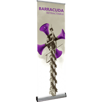 "Orbus Barracuda 600 23.5"" Retractable Banner Stand (Silver)"