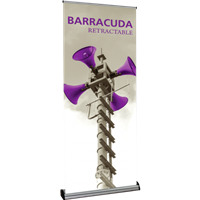 "Orbus Barracuda 920 35.5"" Retractable Banner Stand (Silver)"