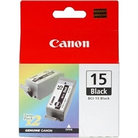 Canon BCI-15 Black Ink Cartridge, 2-Pack