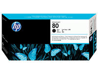 HP 80 Black Printhead & Printhead Cleaner C4820A