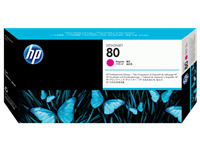 HP No. 80 Magenta printhead and printhead cleaner (HP C4822A)