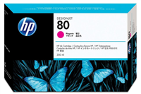 HP 80 Magenta Ink Cartridge C4847A 350-ml