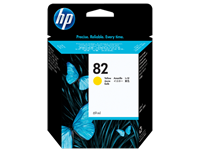 HP 82 69-ml Yellow DesignJet Ink Cartridge for DesignJet 120, 500, 510, 800, 815, 820
