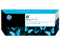 HP 81 680-ml Light Cyan DesignJet Dye Ink Cartridge