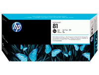 HP 81 Black Dye Printhead and Cleaner