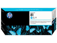 HP 81 Cyan Printhead and printhead cleaner C4951A