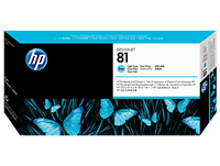 HP 81 Light Cyan DesignJet Dye Printhead and Printhead Cleaner C4954A