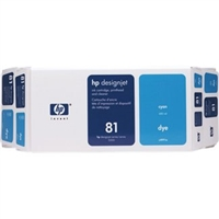 HP 81 Value Pack 680-ml Cyan DesignJet Dye Ink Cartridge and Printhead