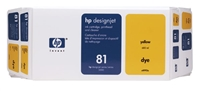 HP 81 Value Pack 680-ml Yellow DesignJet Dye Ink Cartridge and Printhead