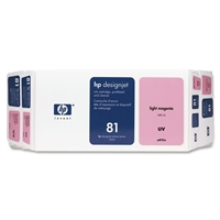 HP 81 Value Pack 680-ml Light Magenta DesignJet Dye Ink Cartridge and Printhead