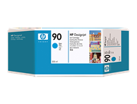HP #90 CYAN ink for DesignJet 4000, 225 ml