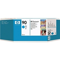 HP 90 400-ml Cyan DesignJet Ink Cartridge
