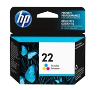 HP 22 Tri-color Inkjet Print Cartridge C9352AN