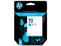 HP 72 Cyan Ink Cartridge for DesignJet T610, T620, T770, T790, T1300, T1100, T1120, T1120, T1200