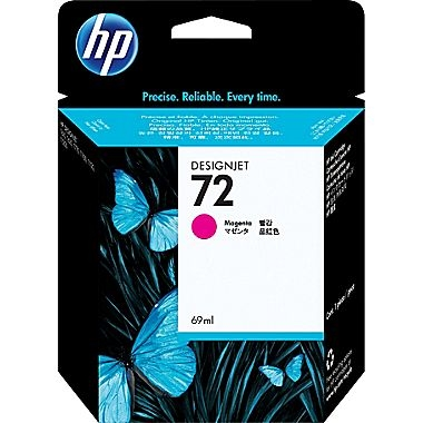 HP 72 Magenta Ink Cartridge for DesignJet T610, T620, T770, T790, T1300, T1100, T1120, T1120, T1200