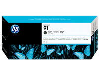 HP 91 Matte Black DesignJet Pigment Ink Cartridge