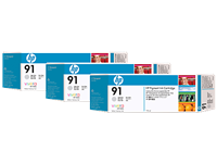HP 91 Lt Gray Ink Cartridges