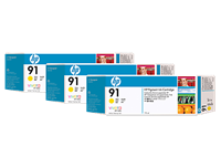 HP 91 Yellow Ink Cartridges