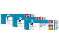 HP 91 Light Cyan Ink Cartridges