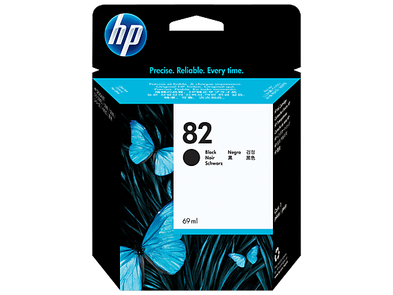 HP 82 69-ml Black DesignJet Ink Cartridge for DesignJet 510