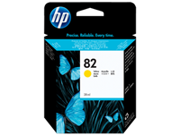 HP 82 Yellow Ink Cartridge 28ml for DesignJet 500, 510, 800