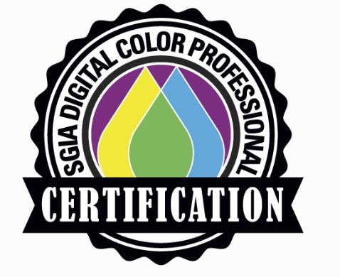 SGIA Digital Color Professional Certification Badge