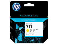 HP 711 3-PACK Yellow 29-ml ink cartridges for DesignJet T120, T520