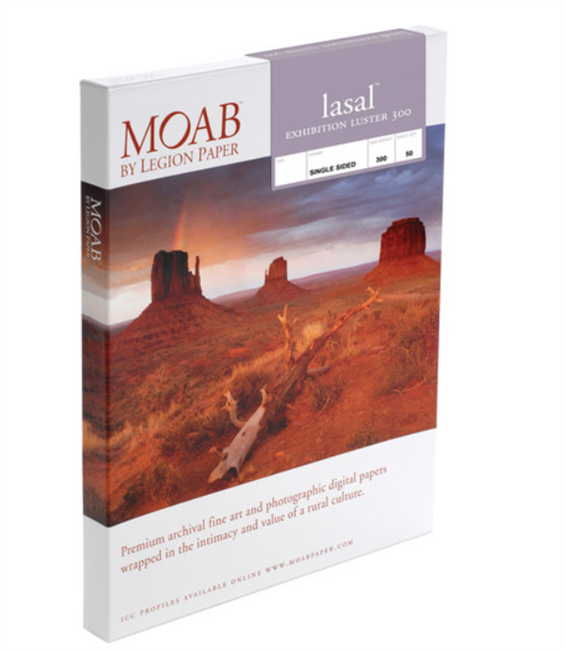 "Moab Lasal Exhibition Luster 300gsm 4""x6"" - 50 Sheets"