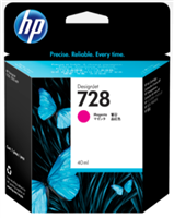 HP 728 40-ml Magenta DesignJet Ink Cartridge for DesignJet T730, T830