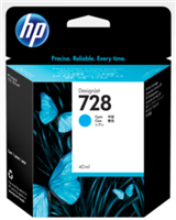 HP 728 40-ml Cyan DesignJet Ink Cartridge for DesignJet T730, T830