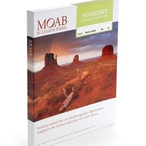 "Moab Somerset Enhanced Velvet 225gsm 13""x19"" -25 Sheets"