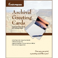 "Inkpress Archival Greeting Cards 7""x10"" - 100 Cards/Envelopes"