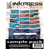 Inkpress Digital Media sample pack 17 sheets of most materials
