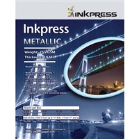 "Inkpress Metallic Gloss 255gsm 10mil 13"" x 19"" - 25 Sheets"