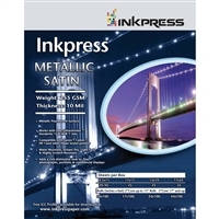 "Inkpress Metallic Paper Satin 255 gsm, 10 mil 10""x100' roll"