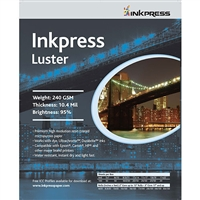 "Inkpress Luster Paper 240gsm 10""x100' Roll"