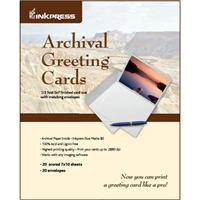 "INKPRESS Archival Greeting Cards 5""x7"" 20 Sheets"
