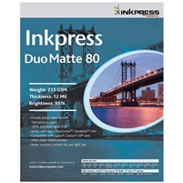 "Inkpress Duo Matte 80 2-Sided 8 x 10"" - 50 Sheets"
