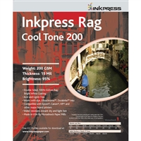 "Inkpress Rag Cool Tone 200 2-Sided 8"" x 10"" - 25 Sheets"