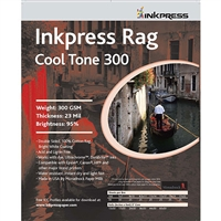 "Inkpress Rag Cool Tone 300gsm 8""x10"" - 25 Sheets"