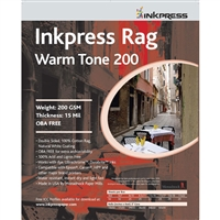 "INKPRESS Rag Warm Tone 200gsm 8""x10"" 25 Sheets"