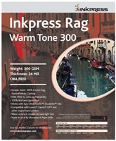 "INKPRESS Rag Warm Tone 300gsm 8.5""x11"" 25 Sheets"