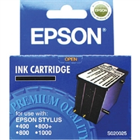 Epson Black Ink Cartridge for Epson Stylus 400, 800, 800+ and 1000 Printers