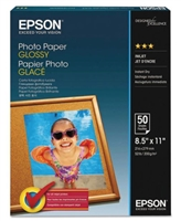 "Epson Photo Paper Glossy, 8.5"" x 11"" - 100 sheets"