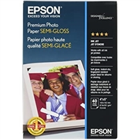 "EPSON Paper Premium Photo Semigloss 4""x6"" 40 Sheets"