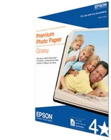 "Epson Premium Photo Paper Glossy, Borderless, 11"" x 14"" - 20 sheets"